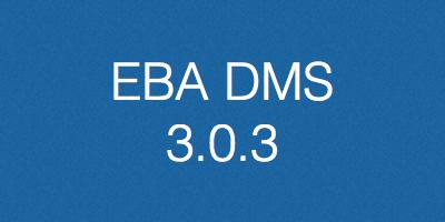 EBA DMS, verzija 3.0.3