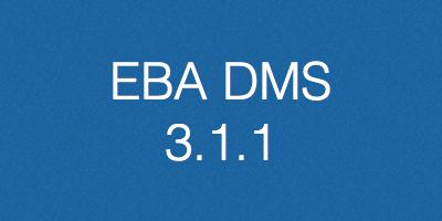 EBA DMS, verzija 3.1.1